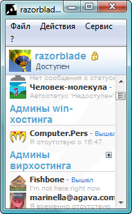 Ростер в ОС MS Windows Vista